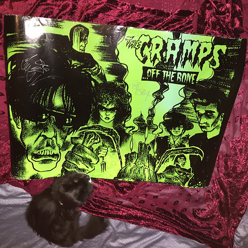 THE CRAMPS vintage poster signed by Fur Dixon and Lux Interior!