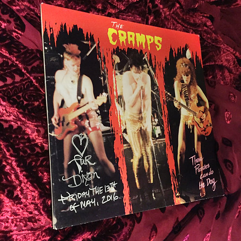 """The Cramps, live double album """"THESE PUSSIES CAN DO THE DOG"""" signed by Fur"""