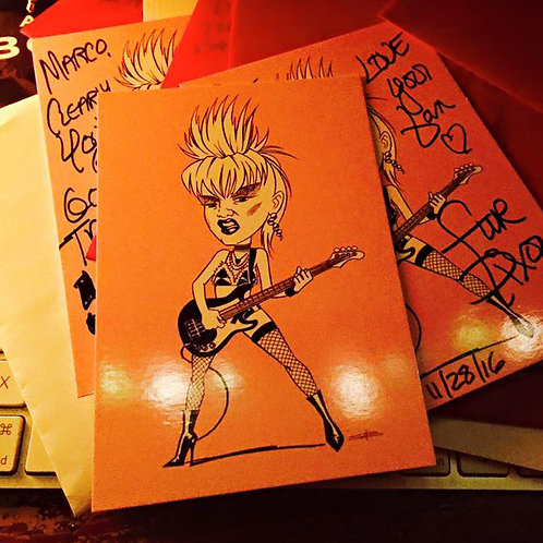 Signed by Fur to you!  Postcard of Fur (Cramps era) by Steve Beaumont