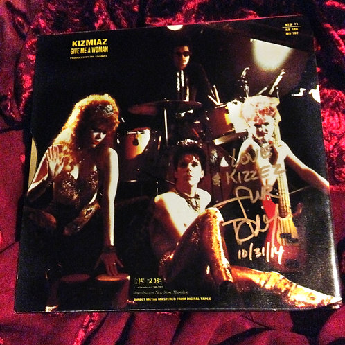 "The Cramps ""Kizmiaz"" 7"" single signed by Fur Dixon on Halloween 2014"