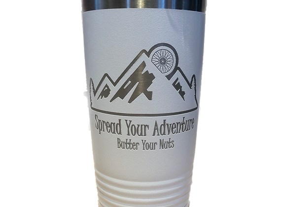 20oz White Spread Your Adventure Coffee Tumbler