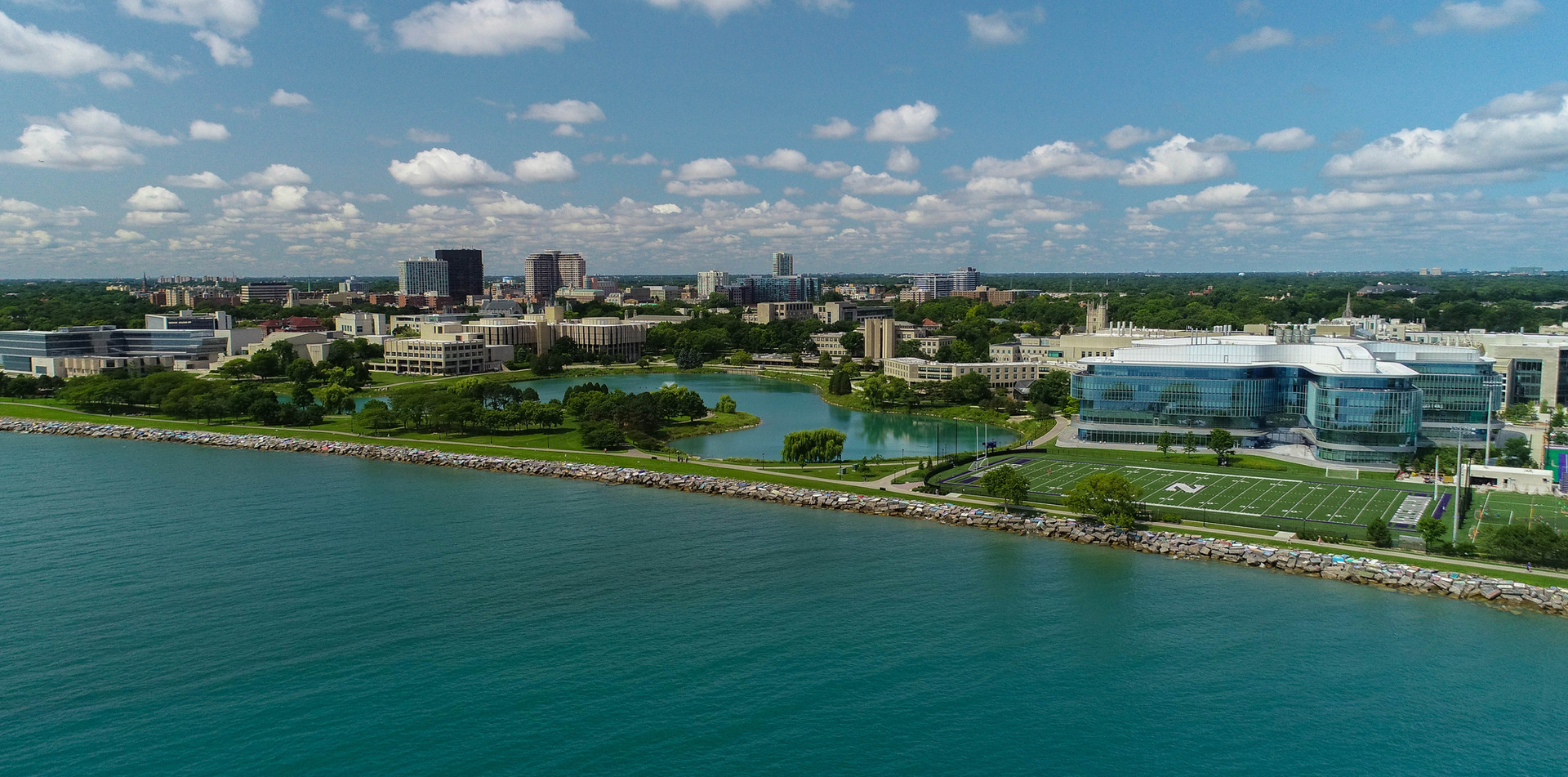 Aerial View of Northwestern University