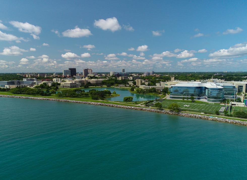 Aerial View of Northwestern University