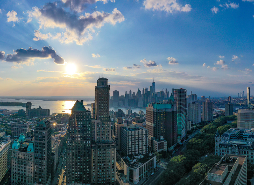 Epic View of the Brooklyn and Manhattan Skyline