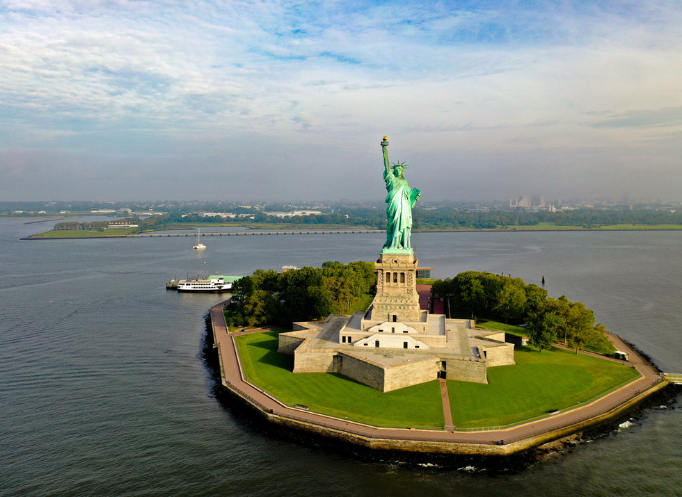 Aerial View of the Statue of Liberty
