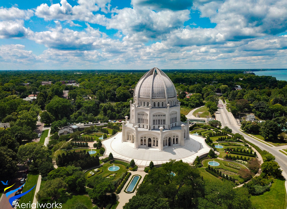 The Baha i House of Worship in Wilmette, Illinois.