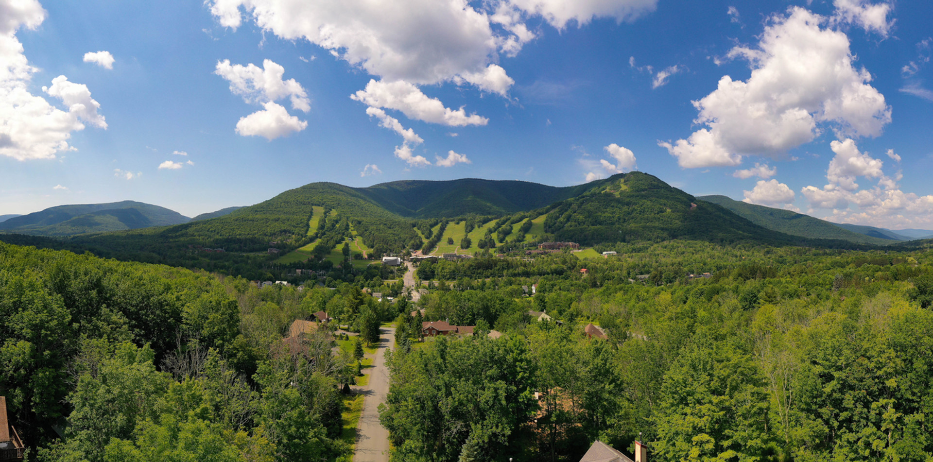 Aerial View of Windham Mountain in the Catskills