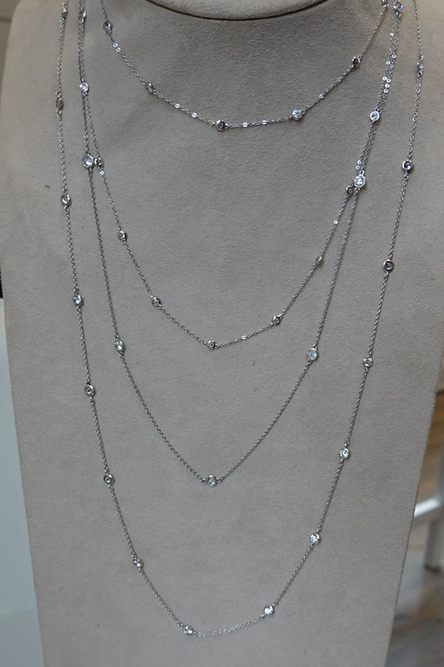 Diamonds by the yard~ Sterling silver and crystal.