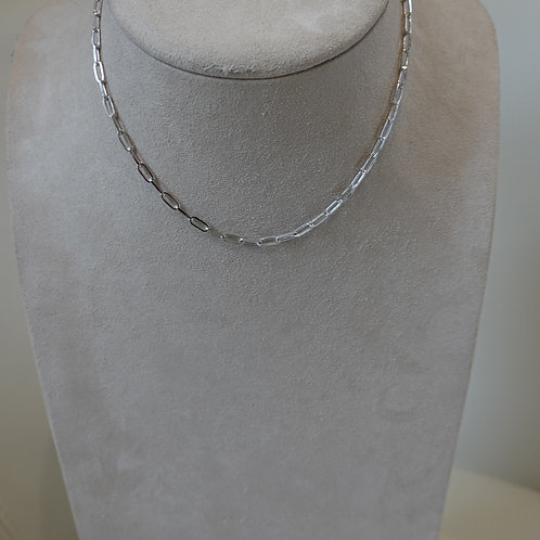 """16"""" Sterling Silver paperclip chain."""