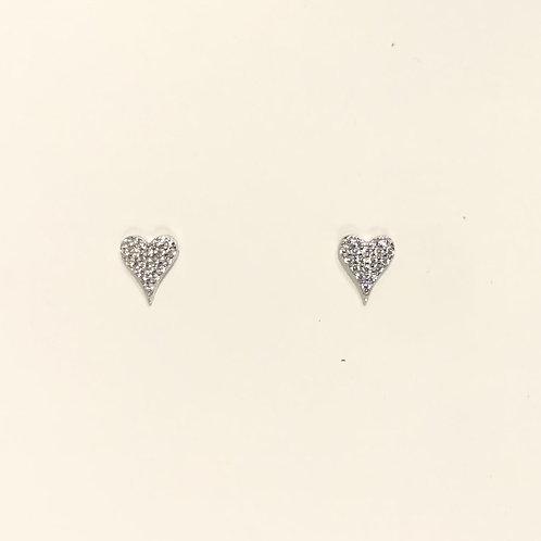 Sterling Silver / Gold heart earrings.