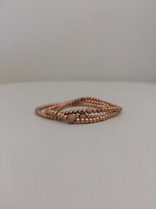 14K Rose Gold Filled Stretch Bracelet- Priced individually