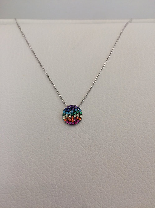 Sterling Silver Rainbow Necklace