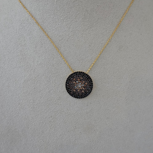 Pave stone/sterling silver Gold plate.