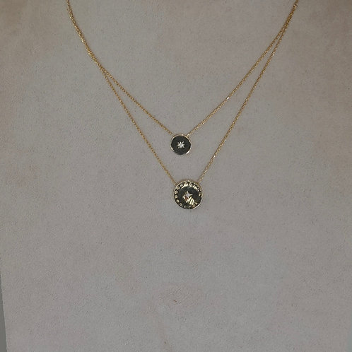14k GF Sterling silver double necklace.