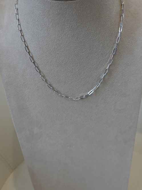 """Sterling Silver Paperclip chain 18"""""""