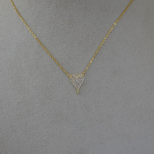 Heart Necklace 14 K GF/silver
