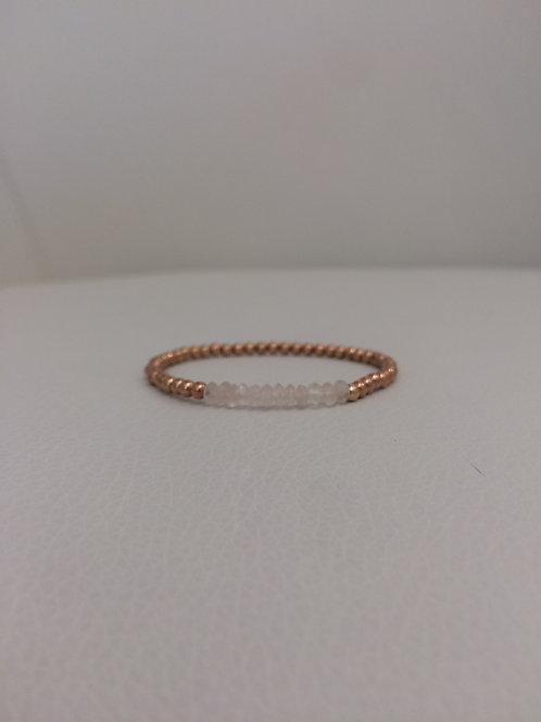 14K Rose Gold Filled Stretch Bracelet