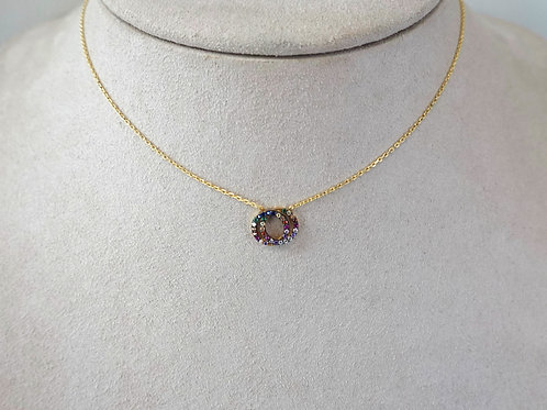 Sterling Silver Gold Filled Rainbow necklace