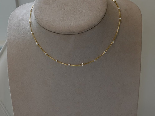 14 K GF Silver/gold necklace. Great stacking piece.