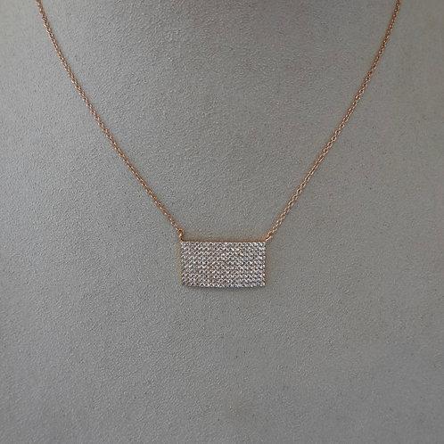 14 K Rose gold filled Pave necklace