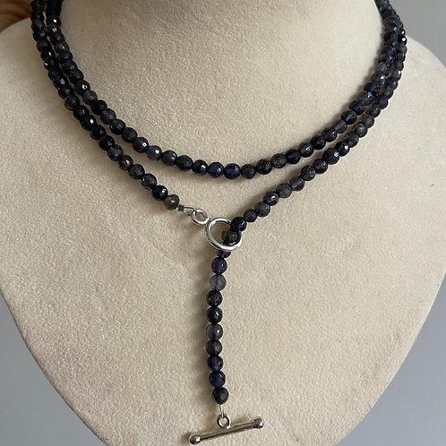 Iolite necklace/ lariate