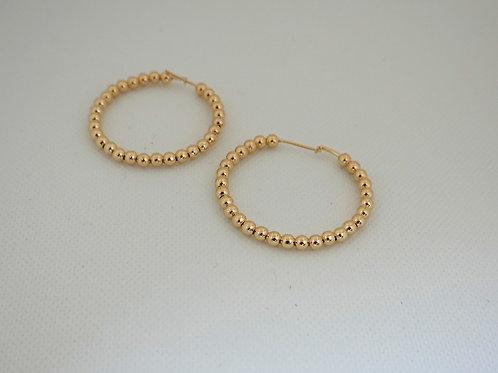 """14k GF 1.5"""" Hoop earrings"""