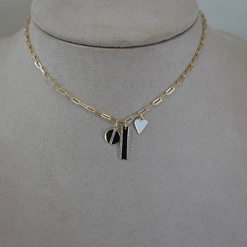 14k GF Sterling charm necklace