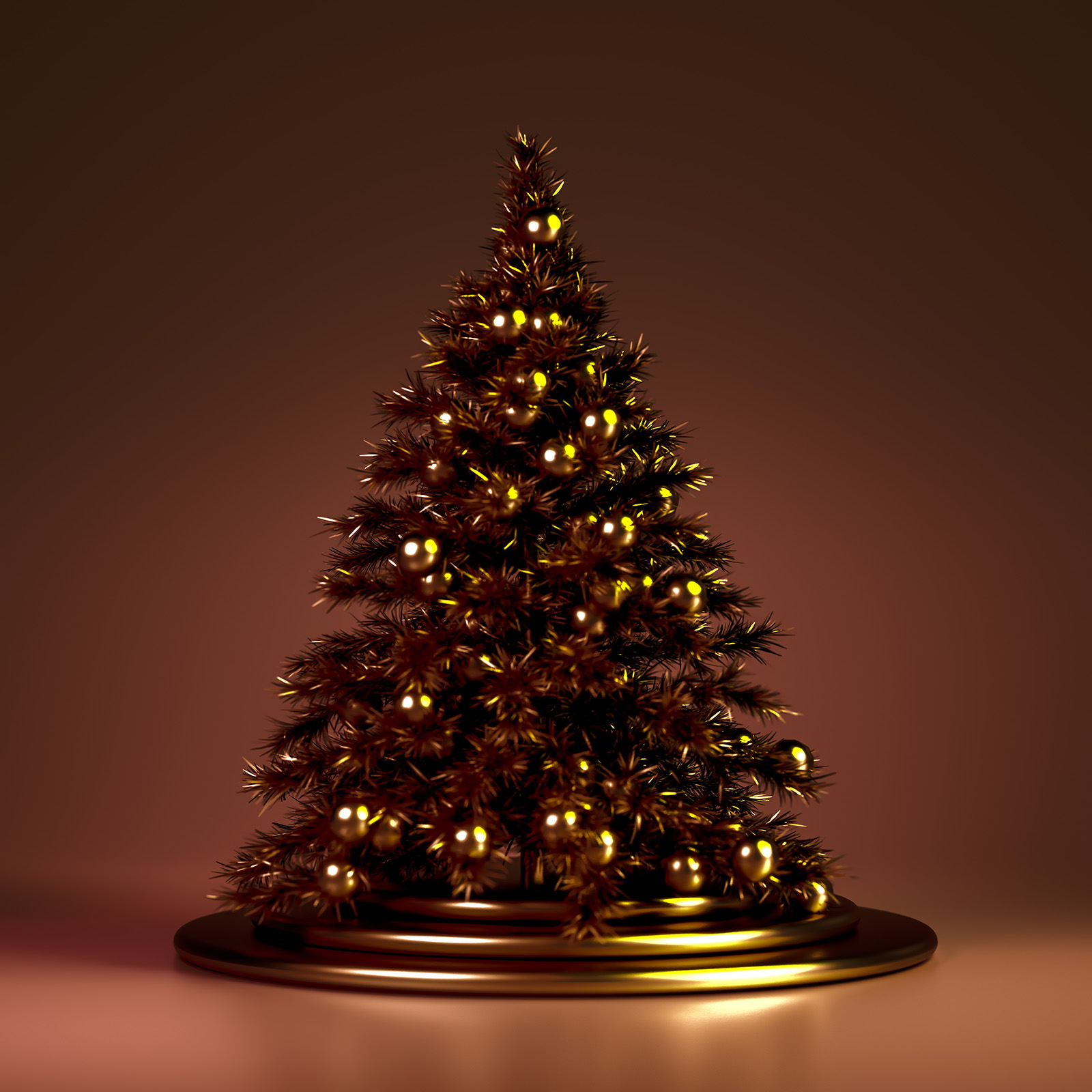 Golden XMAS tree