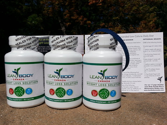 Lean Body Diet Plan with 3 Bottles (180 Capsules)