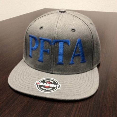 GREY & BLUE SNAPBACK HAT