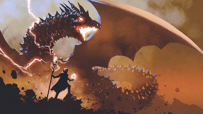 D&D dragon wizard magic