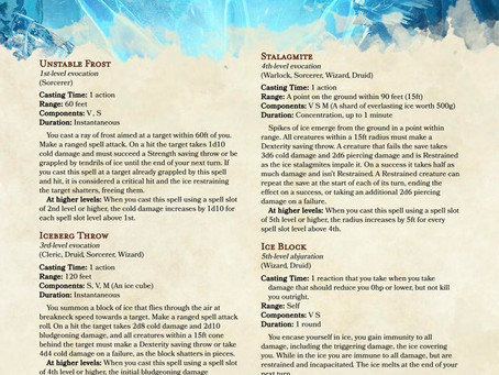 Frost Magic - 4 spells to bring out the Cryomancer inside you