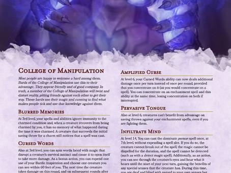 Bard - College of Manipulation
