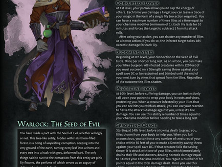 Warlock - The Seed of Evil - Plant your roots to corrupt the world in D&D 5e