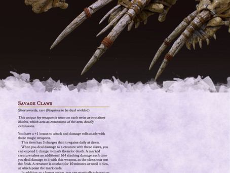 Savage Claws - Rip your foes to shred in DnD 5e
