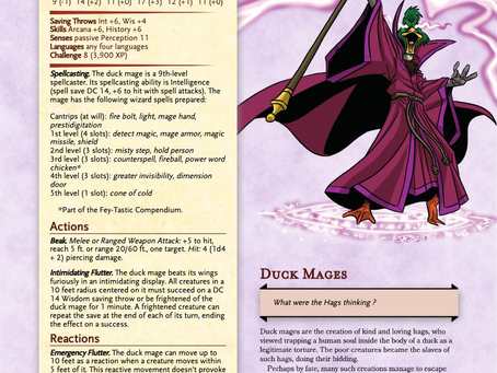 DnD Monster: Duck Mage