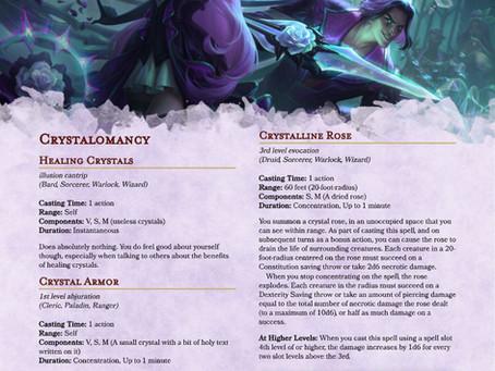 Crystalomancy - New Spells for 5e DND