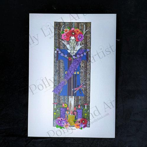 Fae Queen Stang Postcard