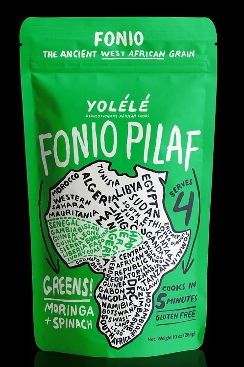 Greens! Fonio Pilaf: Moringa + Spinach