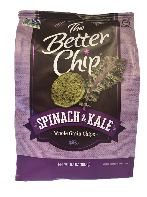 Spinach and Kale-The Better Chip