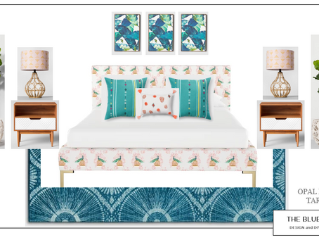 Stunning Guest Room using Opal House from Target
