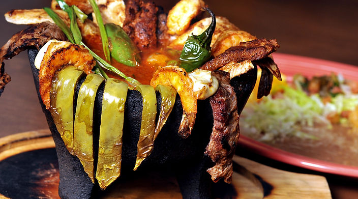 Casa Fina specialty items - Molcajete Mixto