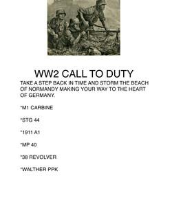 ww2 call to duty