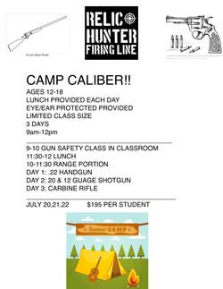 CAMP CALIBER 2020
