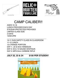 CAMP CALIBER 2019