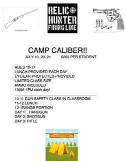CAMP CALIBER 2021