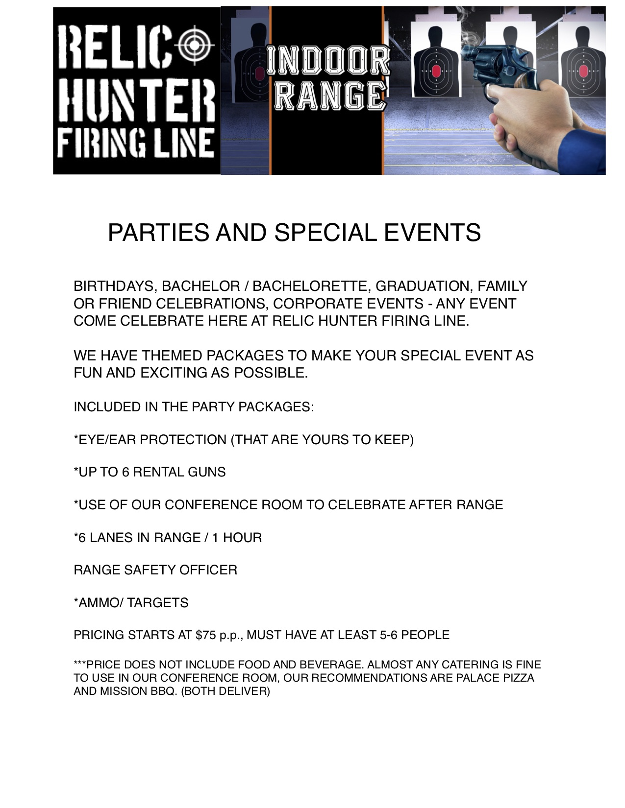 Party Flyer FRONT SHEET