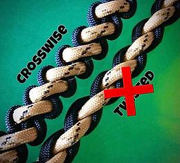 Crosswise, Sliding Knot Shungite Collar