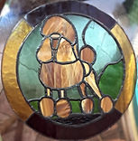poodle stained glass