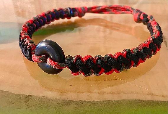 Sliding-Knots Shungite Collar 15.5-18.5 inches